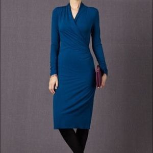 Boden Claudia Faux Wrap Sheath Jersey Dress 10L